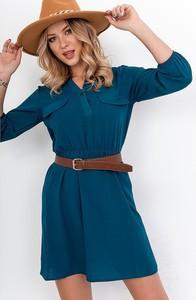 Sukienka ZOiO.pl z długim rękawem koszulowa