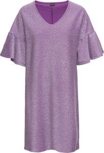 Fioletowa sukienka bonprix BODYFLIRT z dżerseju
