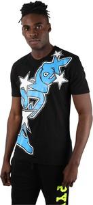 Czarny t-shirt Pyrex z nadrukiem z krótkim rękawem w młodzieżowym stylu