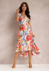 Sukienka Renee asymetryczna midi z dekoltem w kształcie litery v