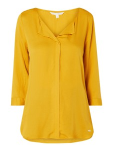 Żółta bluzka Tom Tailor Denim z długim rękawem