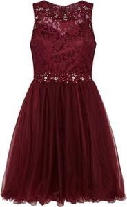 Sukienka Laona bez rękawów rozkloszowana z tiulu