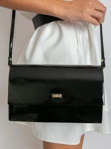 Czarna torebka Sheandher.pl do ręki w stylu glamour ze skóry ekologicznej