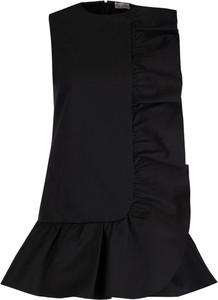 Czarna sukienka Red Valentino bez rękawów mini z okrągłym dekoltem