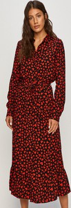 Sukienka Vila maxi z tkaniny z długim rękawem