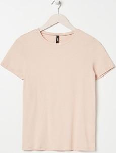 T-shirt Sinsay z okrągłym dekoltem w stylu casual z krótkim rękawem