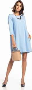 Niebieska sukienka Tessita z długim rękawem mini