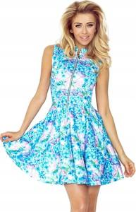 Niebieska sukienka NUMOCO bez rękawów