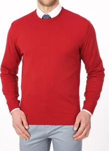 Czerwony sweter Lanieri z bawełny