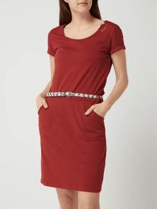 Czerwona sukienka Ragwear dopasowana mini
