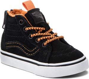 Czarne buty dziecięce zimowe Vans sznurowane