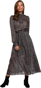 Czarna sukienka Style w stylu casual midi z tkaniny