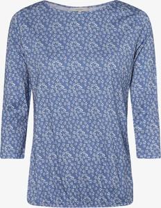 Niebieski t-shirt Apriori z bawełny z długim rękawem