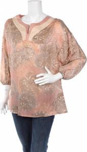 Bluzka Ivi Collection z długim rękawem w stylu boho z dekoltem w kształcie litery v