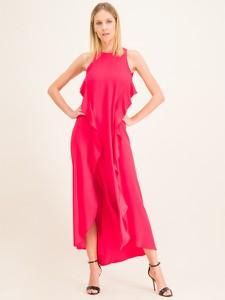Różowa sukienka Twinset maxi