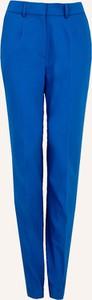 Niebieskie spodnie Bialcon z tkaniny