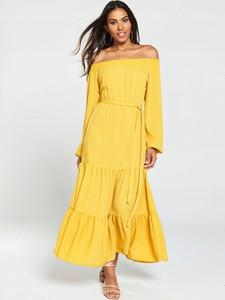 Żółta sukienka V by Very maxi