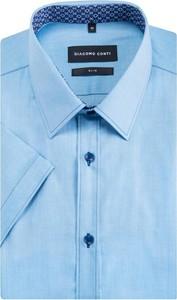 Błękitna koszula Giacomo Conti z krótkim rękawem