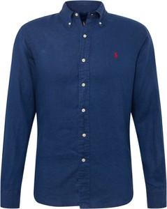 Granatowa koszula POLO RALPH LAUREN w stylu casual z tkaniny