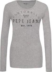 Bluzka Pepe Jeans w street stylu z długim rękawem