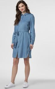 Niebieska sukienka Vila mini z długim rękawem