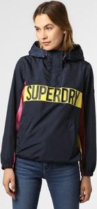Granatowa kurtka Superdry w stylu casual krótka