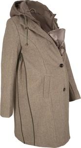 Płaszcz bonprix bpc bonprix collection w stylu casual z wełny
