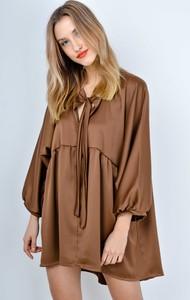 Sukienka Zoio w stylu casual z długim rękawem mini