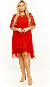 c77f9aedcb Sukienka Roxana z okrągłym dekoltem z długim rękawem