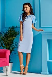 ca78f8adf9 Niebieska sukienka Lemoniade z szyfonu midi z okrągłym dekoltem
