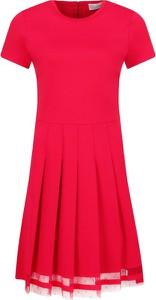 Sukienka Red Valentino z okrągłym dekoltem w stylu casual