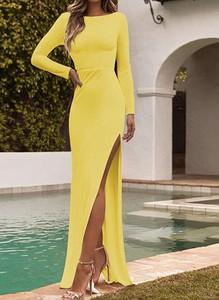 Żółta sukienka Arilook maxi