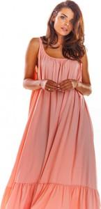 Sukienka Awama z szyfonu maxi