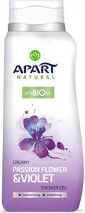 Apart Natural, Prebiotic, żel pod prysznic, Passion Flower & Violet, 400 ml