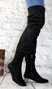 45bc542baf528 kozaki damskie czarne długie - stylowo i modnie z Allani