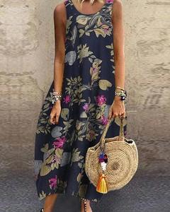 Sukienka Kendallme maxi z okrągłym dekoltem oversize