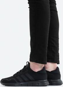 Czarne buty sportowe Adidas Originals z płaską podeszwą w sportowym stylu z zamszu
