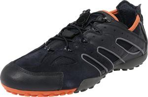 Buty sportowe Geox w sportowym stylu ze skóry