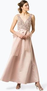 Sukienka Unique rozkloszowana bez rękawów z dekoltem w kształcie litery v