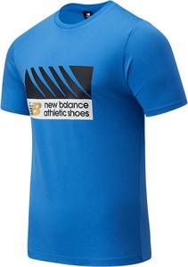 T-shirt New Balance z nadrukiem w młodzieżowym stylu