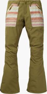 Zielone spodnie sportowe Burton w geometryczne wzory