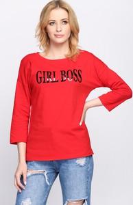 Czerwona bluzka born2be z krótkim rękawem