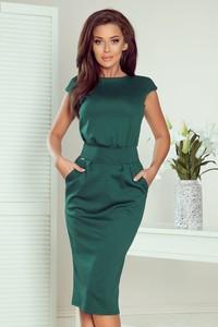 Zielona sukienka NUMOCO z krótkim rękawem