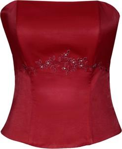 Czerwona bluzka Fokus w stylu glamour