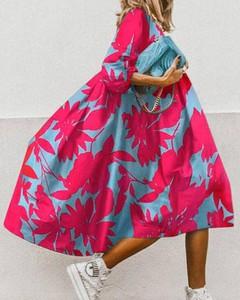 Sukienka Kendallme z dekoltem w kształcie litery v z długim rękawem bombka