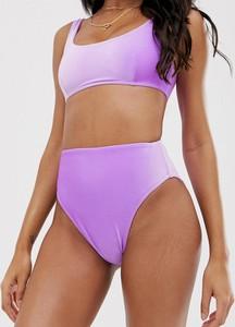 Fioletowy strój kąpielowy Asos