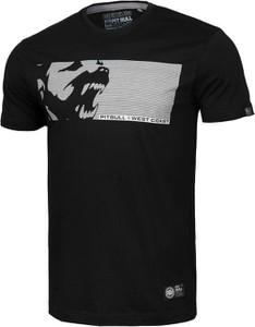Czarny t-shirt Pit Bull z nadrukiem w młodzieżowym stylu