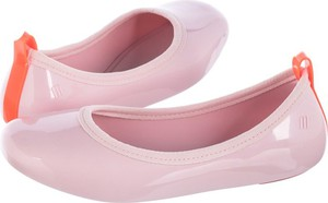 Różowe baleriny Melissa w stylu casual z płaską podeszwą