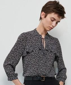 Bluzka Reserved ze sznurowanym dekoltem w stylu casual z długim rękawem