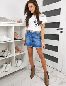 Niebieska spódnica Dstreet z jeansu mini